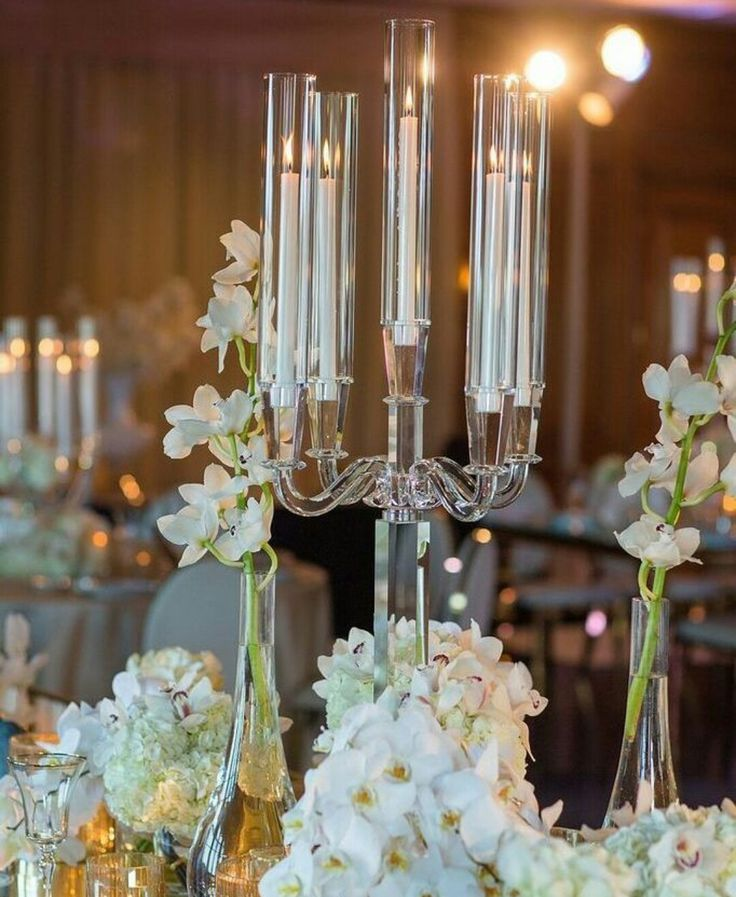 In love with these funnel Candelabra's...