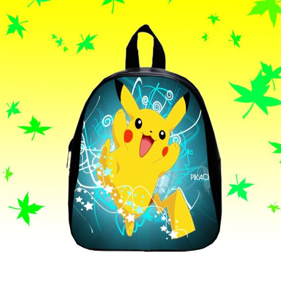 Pikachu Pokemon   Backpack/SchoolBags for Kids. by FACIALBAG