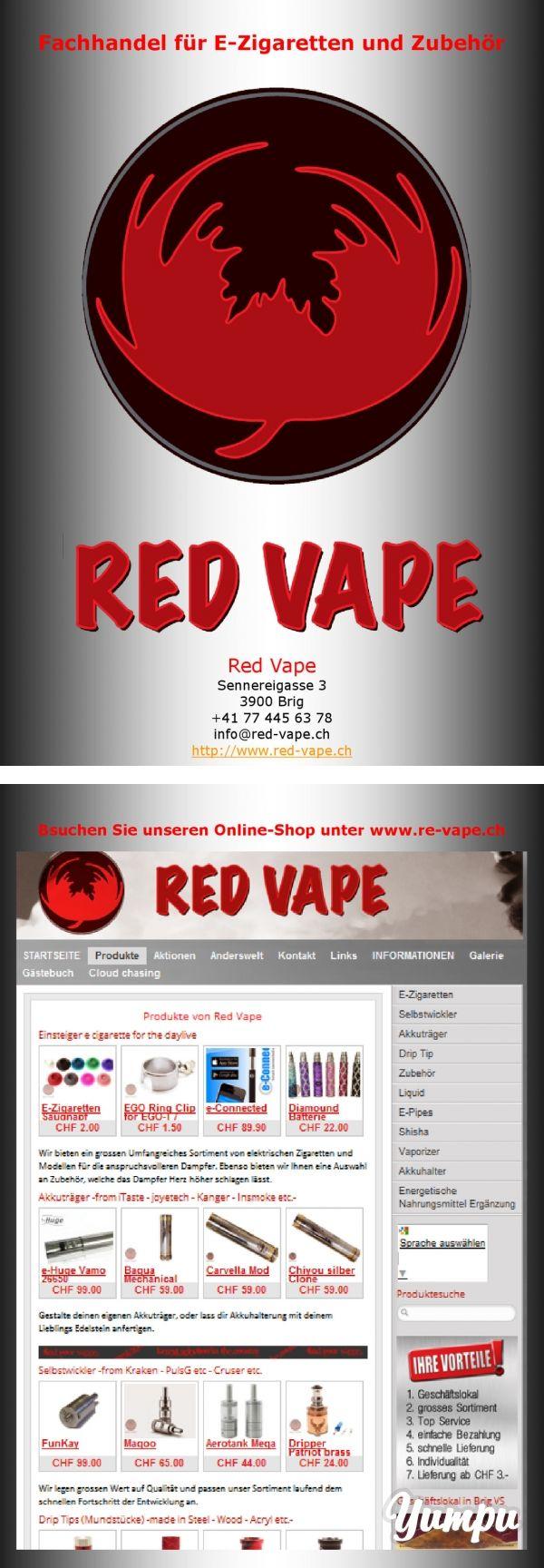 Fachhandel für E-Zigaretten und Zubehör - Magazine with 7 pages: www.Red-Vape.ch vertreibt E-Ziagretten und Zubehör. Wir bieten ein grosses Sortiment für ein dauerhaftes und geschmackvolles Dampfen an. Red Vape führt diverse Marken von iTaste, Insmoke, Kanger, Fuel, Zazo und viele mehr. Überzeuge dich selbst.  Es gibt in der Zwischenzeit viele Bezeichnung für e zigaretten - vapor cigarettes - e cig - clectronic cigrette - elektro zigarette usw. Wir nennen es einfach Dampfer. Denn das ...