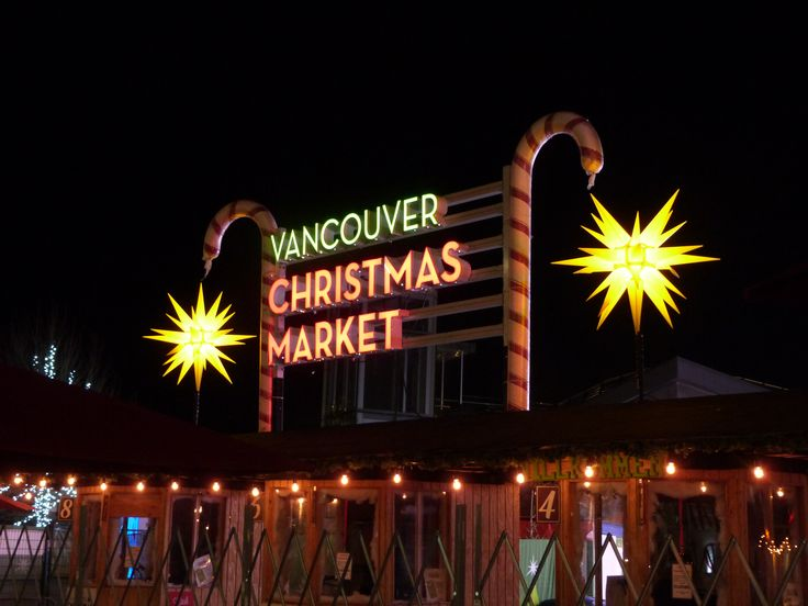 Entrance of the Vancouver Christmas Market 2017