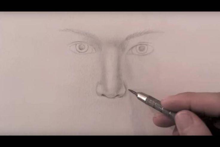 paso 8 para dibujar una nariz realista