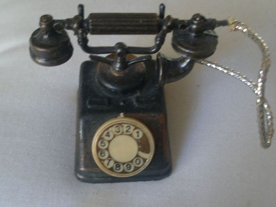Vintage Die-Cast Miniature Rotary Telephone by PrettyPaulaProducts