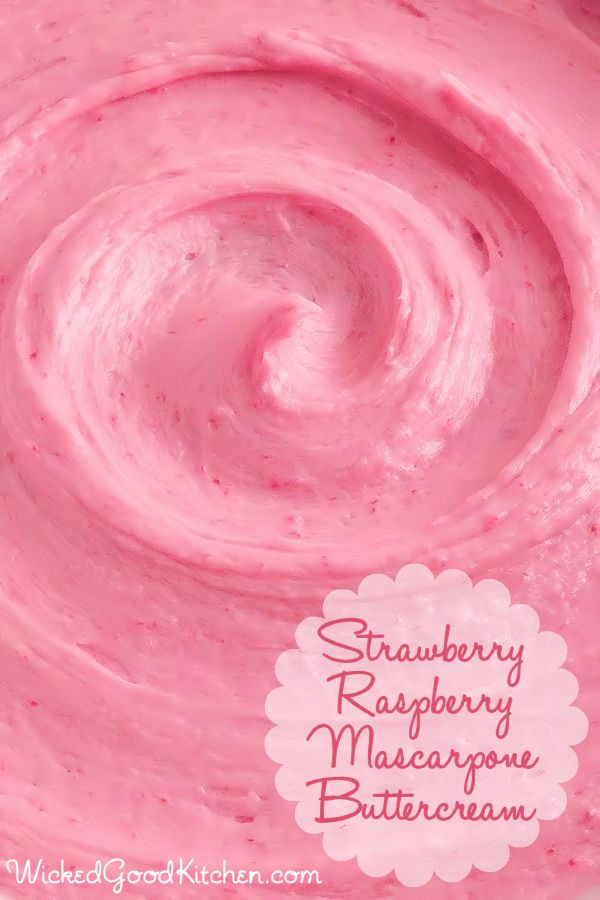 Strawberry-Raspberry Mascarpone Buttercream