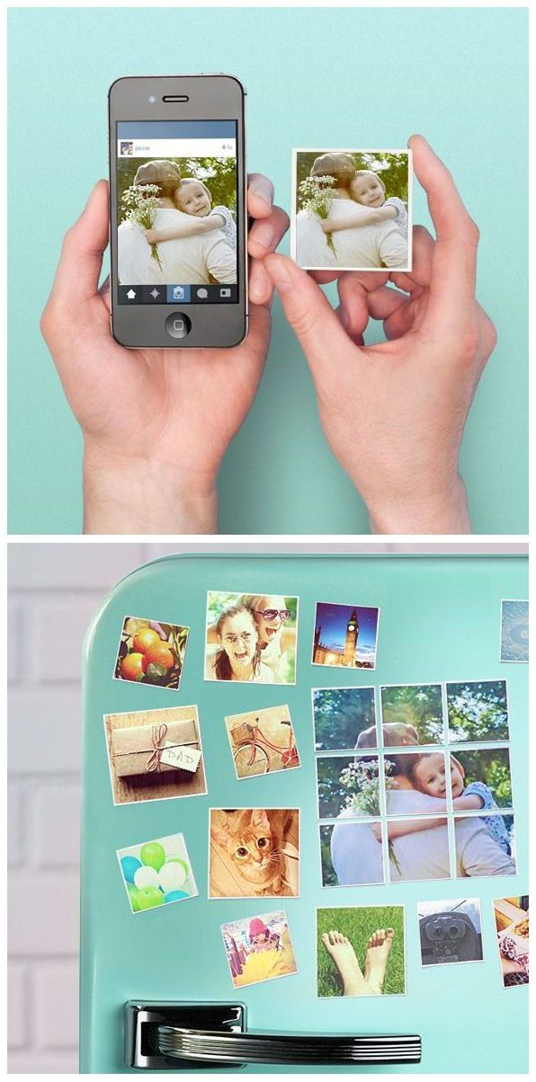 Turn Your Instagram Images into Magnets. A nice idea to stick your memories around! #neat #giftidea #keepsake
