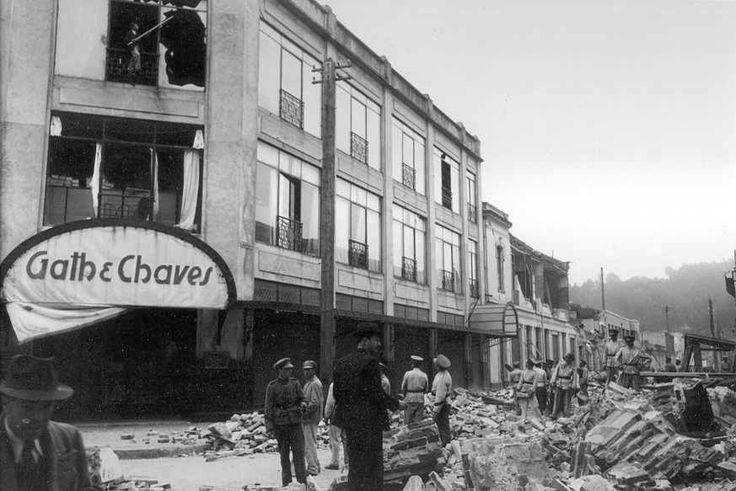 Almacén Gath y Chaves en Concepción, después del terremoto de 1939