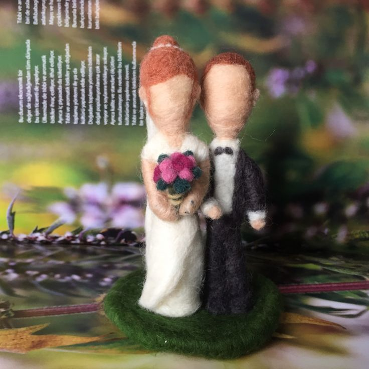 Wedding, gift, needle, felt, bride, groom, figure Follow me on instagram @catchafelt