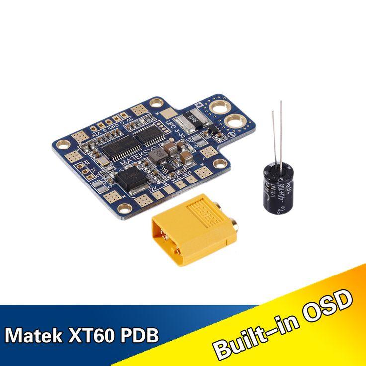 Matek HUBOSD eco XT60 Power distribution board HUB OSD PDB CURRENT SENSOR W/ Dual BEC 5V &12V FOR QUADCOPTER FPV mini qav-r 220