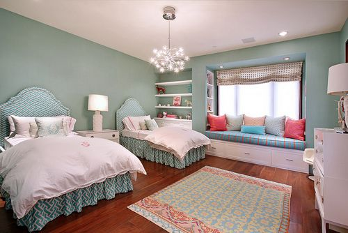 such a cute shared girls room!
