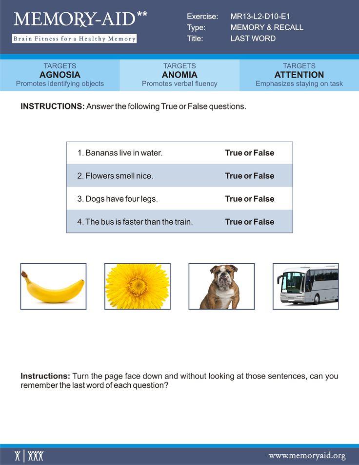 brain exercises to improve memory pdf