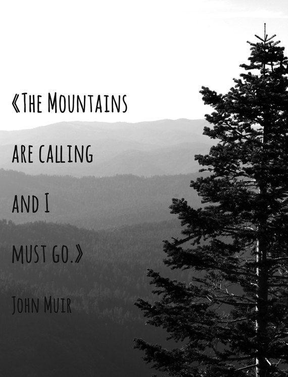 Die Berge fordern und ich muss gehen Fine Art von jillianschipper