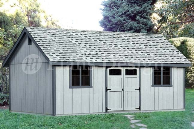Details about 16 39 x 24 39 reverse gable backyard storage for Gable barn plans