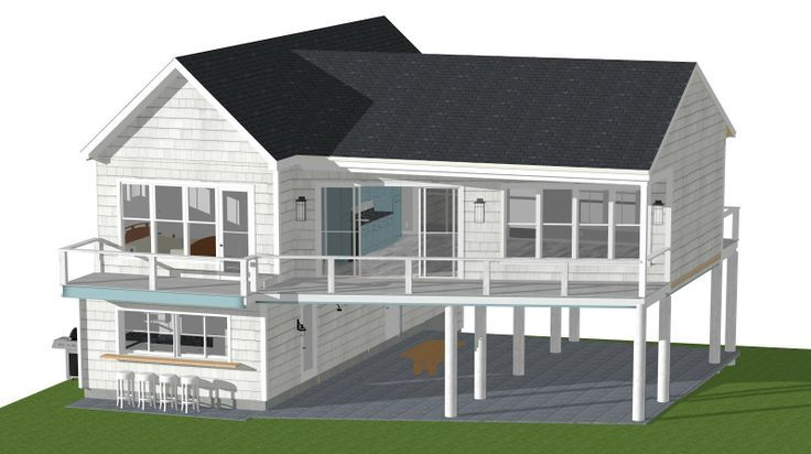 Small Beach House Plans Pilings Google Search