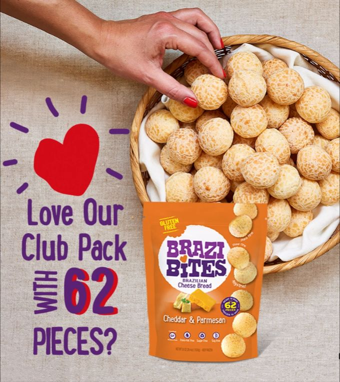 "Love our 62-piece Club bag? Click ""Visit"" to see if your Costco location has #BraziBites in stock! #Brazilianfood #glutenfree #paodequeijo #Braziliancheesebread #instafood #snacks #cleaneats #eatclean #Costco #Costcofinds #Costcodeals"