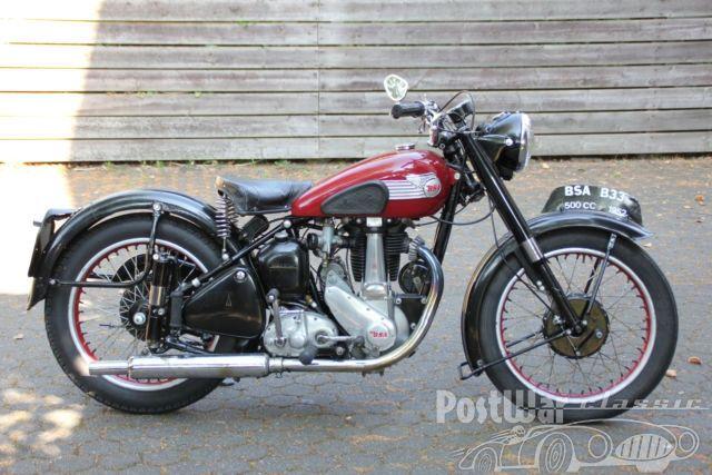 BSA mc B33 1952 for sale