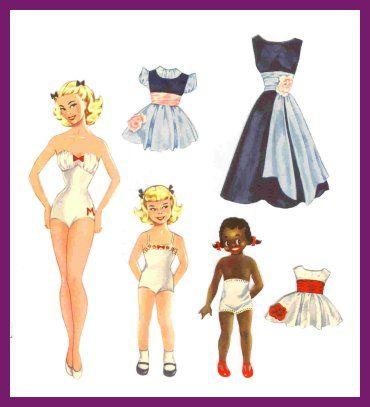 Ingrid Molzen. PDsamler. Grupo de interés en línea de muñecas de papel.