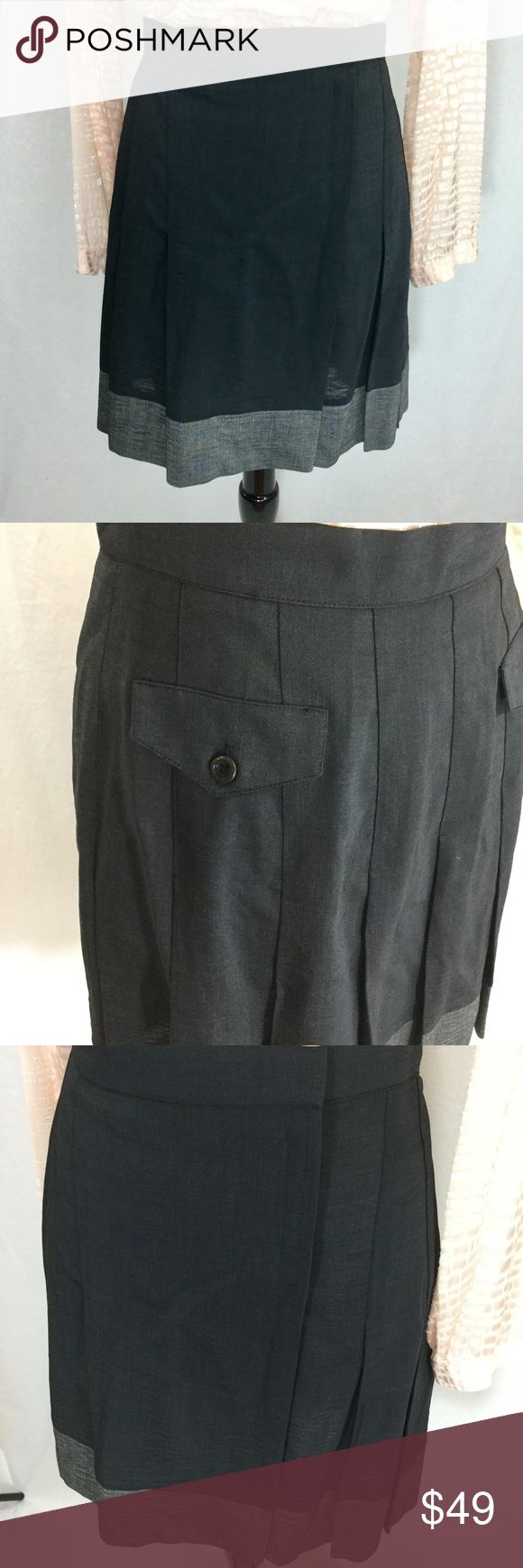 Karen Millen kilt skirt UK Size 14 US size 10 Velcro close kilt skirt from Karen Millen. UK size 14 equals US size 10. Approximately 19 inches long, 30 inch waist. Flap rear pockets, front pleats. Offers welcome. Thanks for shopping my closet! Karen Millen Skirts A-Line or Full