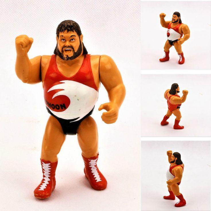 VINTAGE 1991 TYPHOON WRESTLING FIGURE WWE WWF NATURAL DISASTERS TITAN SPORTS INC