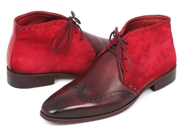 Justin Reece Manley, Chaussures de Ville à Lacets pour Homme - Rouge - Wine A,