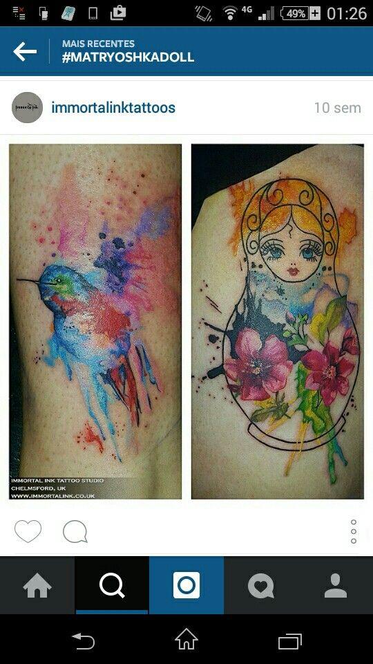 Matryoshka - matrioska - tattoo