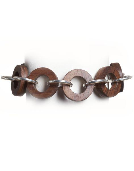 Wood Bracelet - 5 Year Anniversary Gift - Gift for Wife - Liel and Lentz  #Jewelry #WoodJewelry #5YearAnniversary #Fashion #Minimal