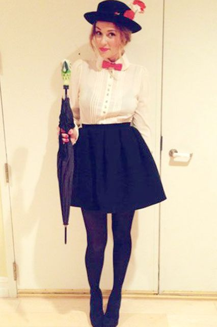 Halloween 2012: Mary Poppins This costume is pretty easy to pull off with items you already have in your closet! #refinery29 http://www.refinery29.com/lauren-conrad-halloween-costume-ideas#slide-3