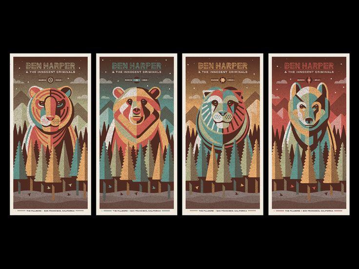 Ben Harper & The Innocent Criminals Poster Series