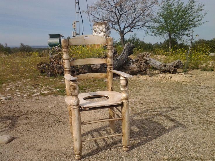 Silla wc antigua