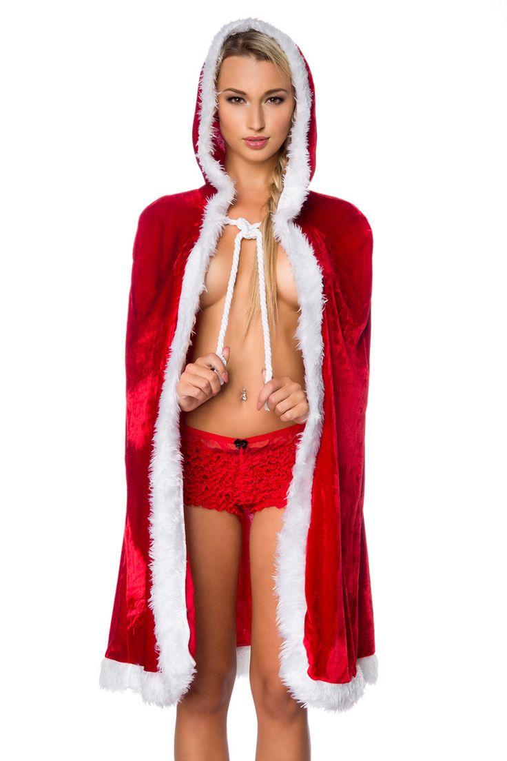 Das wunderschöne #Weihnachtscape ist flauschig und weich! >> https://www.burlesque-dessous.de/x-mas/x-mas/rote-dessous/weihnachtscape