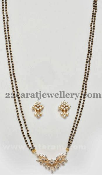 Jewellery Designs: Long Mangalsutra with Tops