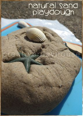 Natural Sand Playdough 2 cups of flour About 1 cup of warm water 1 Tbsp Oil At least 1 cup of sand