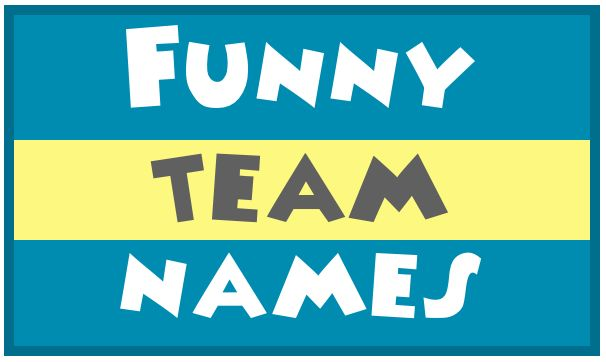 """Funny team names like """"Furious George"""", """"The Mighty Morphin Flower Arrangers"""", """"Dashing Divas"""", and """"One Hit Wonders"""". Pick a fun name!"""
