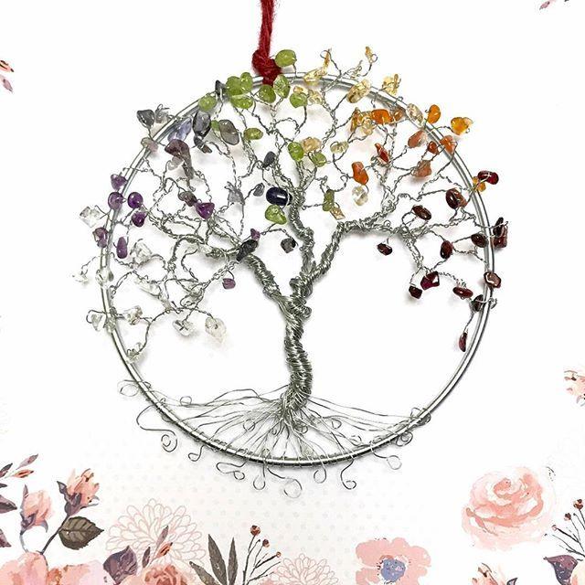 Reposting @spiritgemdesigns: Come shop my unique #gemstone tree designs, including this 5 inch #Chakras #treeoflife Suncatcher! Link is in my profile! #handmadegifts #handmade #handmadeart #tree #wirewrapping #chakrahealing #yogadecor #yogagifts #yogainspiration #meditation #rainbow #suncatcher #windowdecor #wallhanging #wallartdecor #handmadeholiday #etsylove #etsybestsellers #etsyfinds #etsyhunter #etsyseller #trending #trendy #artlovers #giftideas #giftsformom #giftsforher