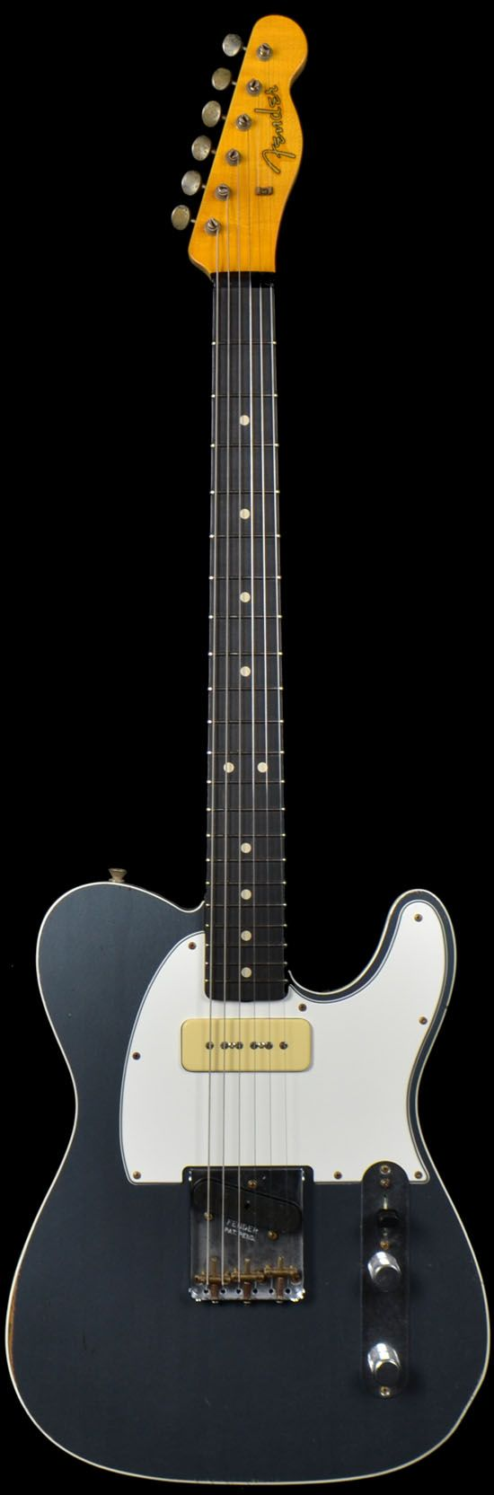 Fender 2 Tone Telecaster w P90 Charcoal Frost Metallic Black Back