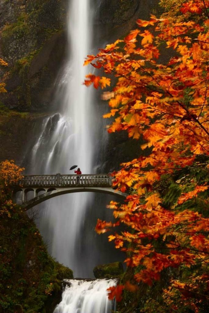 #Oregon Multnomah Falls in autumn : beautiful photos - Xaxor