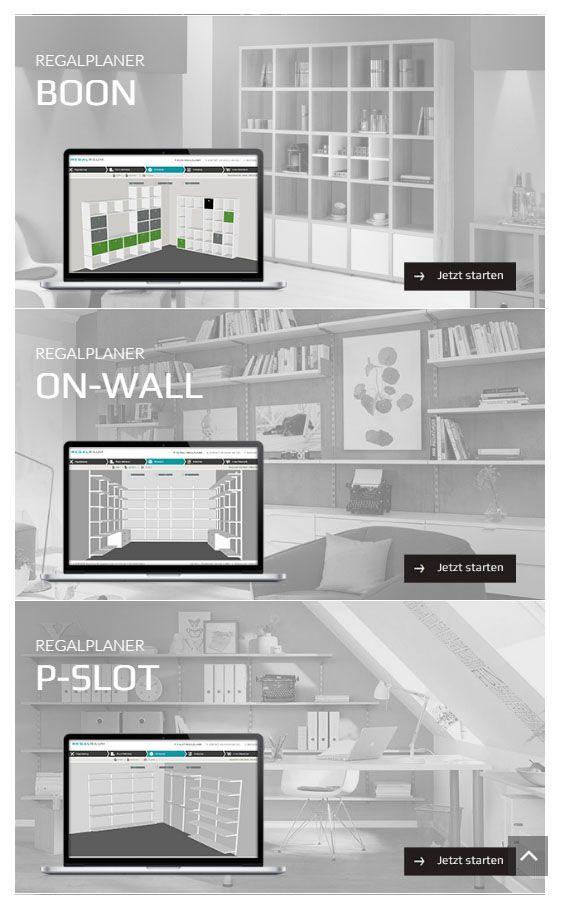 Büroregale mit 3D-Regalplaner individuell planen