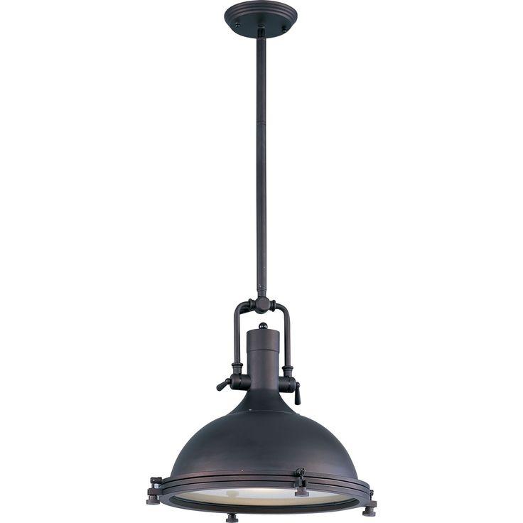 Hi Bay Bronze One Light Pendant Maxim Lighting International Dome Pendant Lighting Ceiling