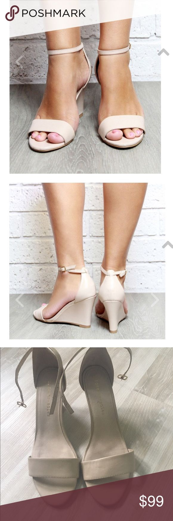 Forever soles, nude, wedding wedges. Forever soles, nude, wedding wedges. Size 9 Forever Soles Shoes Wedges