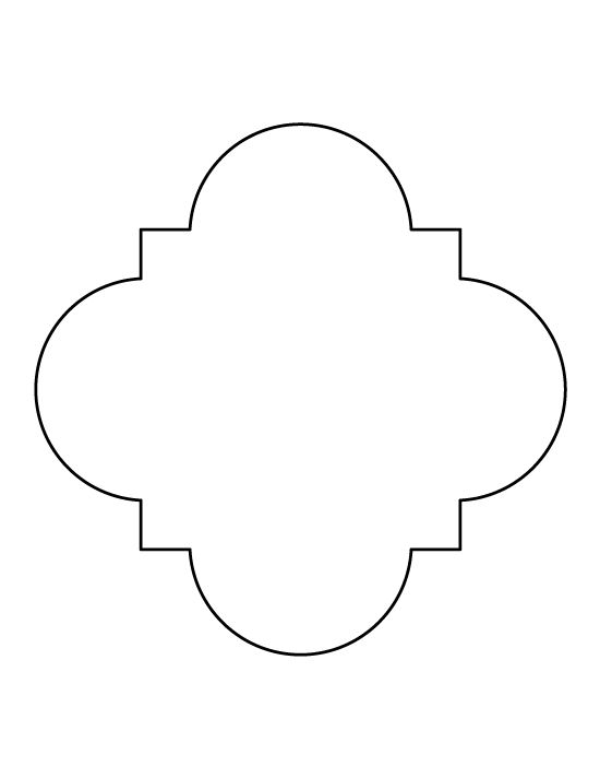 Quatrefoil pattern. Use the printable outline for crafts, creating stencils, scrapbooking, and more. Free PDF template to download and print at http://patternuniverse.com/download/quatrefoil-pattern/