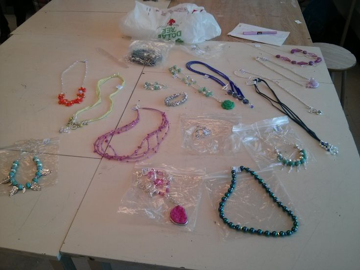 Jewelry on sale before Christmas in the Art Room by Danielle Tambay