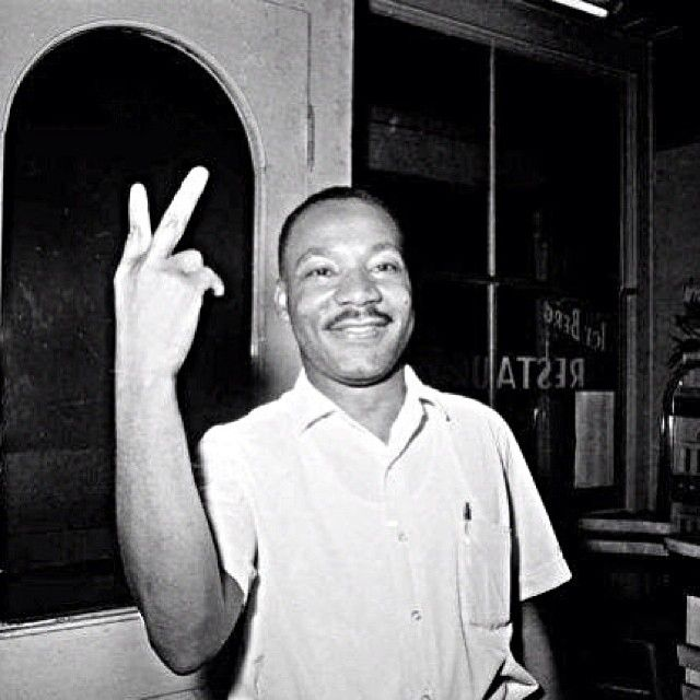FAKE: Martin Luther King flipping the middle finger. FACT: Photoshop of a photo where he holds up two fingers after learning that the Senate had passed the ...