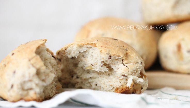Веганские булочки с луком