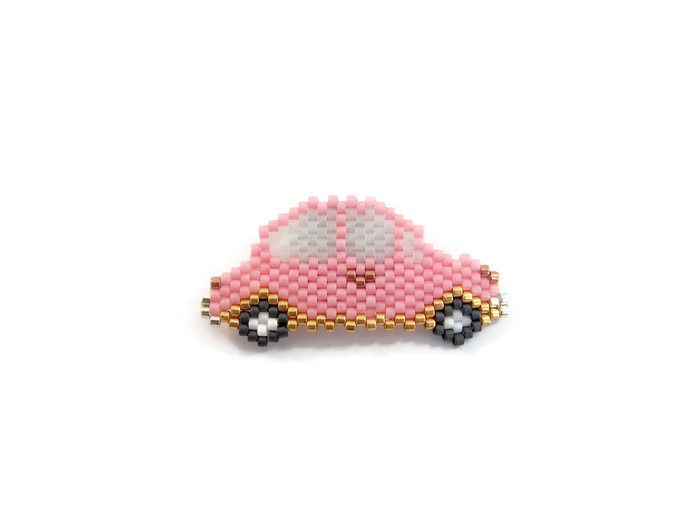 Broche voiture tissée en perles Miyuki