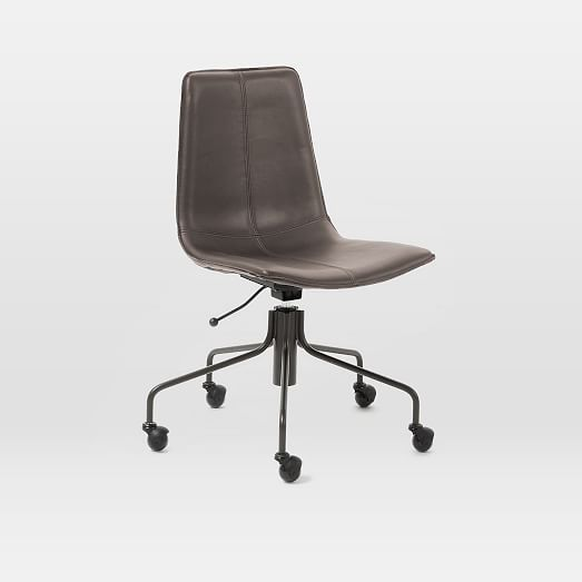 Marvelous Slope Office Chair Leather Old Saddle Nut At West Elm Caraccident5 Cool Chair Designs And Ideas Caraccident5Info