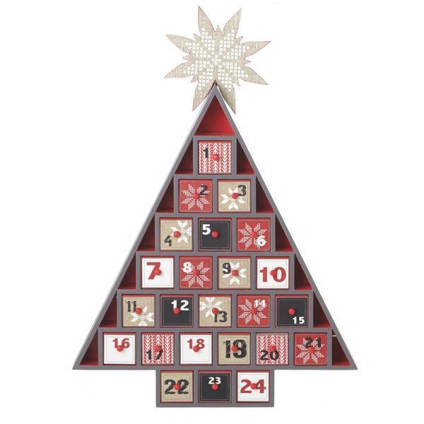 Wood Advent Calendar Tree