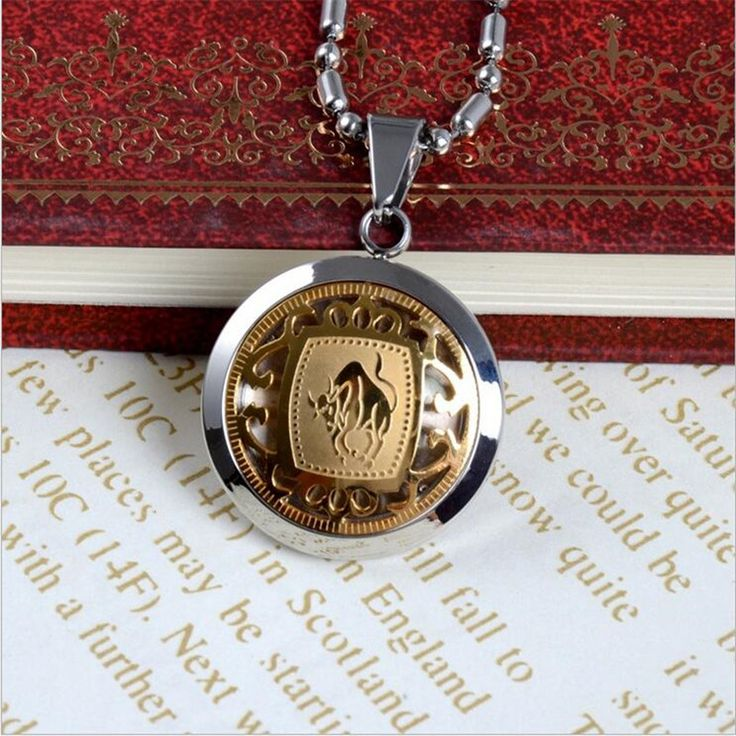 "$11.98---Aliexpress.com : Buy 12 Horoscope Gold and Silver Plated Tone Stainless Steel Round Badge 12 Signs of Zodiac Pendant Necklace 24""inch Lovers Jewelry from Reliable stainless steel suppliers on Shop2860018 Store"