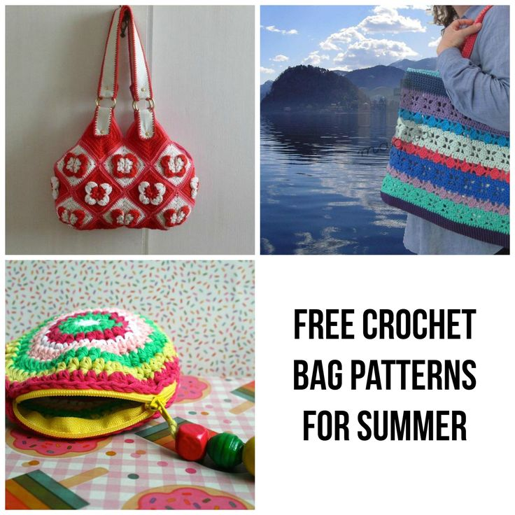 8 FREE Crochet Bag Patterns for Summer Bags, Free ...