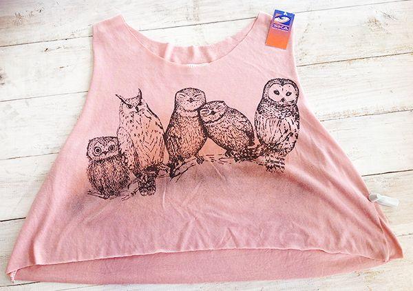 Owl vest crop top, R240.