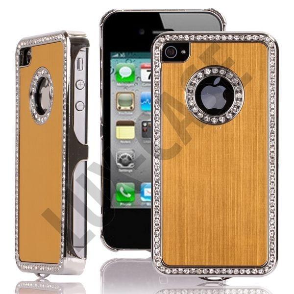 Jewel Silver Edge (Gold) iPhone 4/4S Deksel