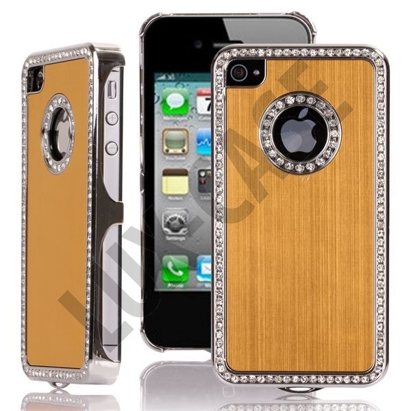 Jewel Silver Edge (Gold) iPhone 4/4S Deksel