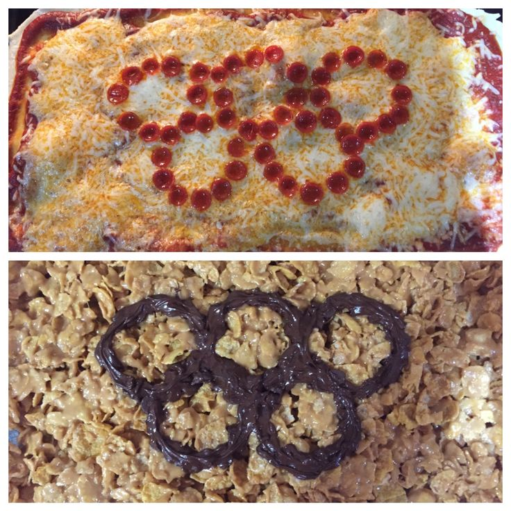 Pepperoni Olympic Pizza and Tony's Tiger Bites